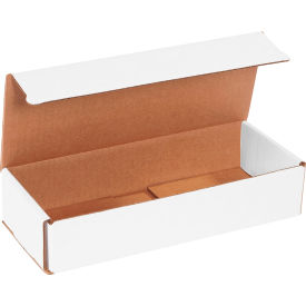 """Corrugated Mailers 10"""" x 4"""" x 2"""" 200#/ECT-32 White - Pkg Qty 50"""