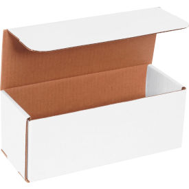 """Corrugated Mailers 10"""" x 4"""" x 4"""" 200#/ECT-32 White - Pkg Qty 50"""