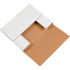 """Easy-Fold Corrugated Mailers 10-1/4"""" x 8-1/4"""" x 1-1/4"""" 200#/ECT-32 White - Pkg Qty 50"""