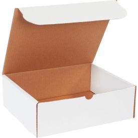 "Corrugated Literature Mailers 11-3/4"" x 10-3/4"" x 4"" 200#/ECT-32 White - Pkg Qty 50"