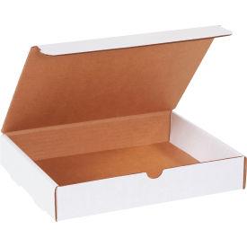 "Corrugated Literature Mailers 11-1/8"" x 8-3/4"" x 2"" 200#/ECT-32 White - Pkg Qty 50"