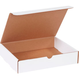 "Corrugated Literature Mailers 11-1/8"" x 8-3/4"" x 2-5/16"" 200#/ECT-32 White - Pkg Qty 50"