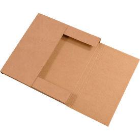 "Easy-Fold Corrugated Mailers 12-1/2"" x 12-1/2"" x 1"" 200#/ECT-32 Kraft - Pkg Qty 50"