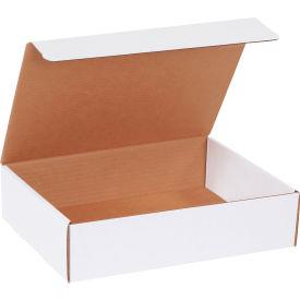 "Corrugated Literature Mailers 12-1/8"" x 9-1/4"" x 3"" 200#/ECT-32 White - Pkg Qty 50"