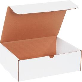 "Corrugated Literature Mailers 12-1/8"" x 9-1/4"" x 4"" 200#/ECT-32 White - Pkg Qty 50"