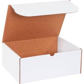 "Corrugated Literature Mailers 12-1/8"" x 9-1/4"" x 5"" 200#/ECT-32 White - Pkg Qty 50"