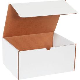 "Corrugated Literature Mailers 12-1/8"" x 9-1/4"" x 6"" 200#/ECT-32 White - Pkg Qty 50"