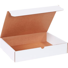 "Corrugated Literature Mailers 15-1/8"" x 11-1/8"" x 3"" 200#/ECT-32 White - Pkg Qty 50"