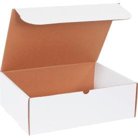 "Corrugated Literature Mailers 15-1/8"" x 11-1/8"" x 5"" 200#/ECT-32 White - Pkg Qty 50"