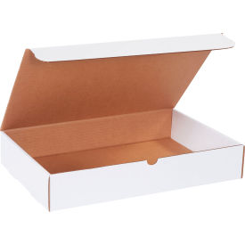 "Corrugated Literature Mailers 17-1/8"" x 11-1/8"" x 3"" 200#/ECT-32 White - Pkg Qty 50"