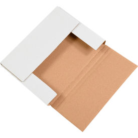 """Easy-Fold Corrugated Mailers 11-1/8"""" x 5-5/8"""" x 4"""" 200#/ECT-32 White - Pkg Qty 50"""