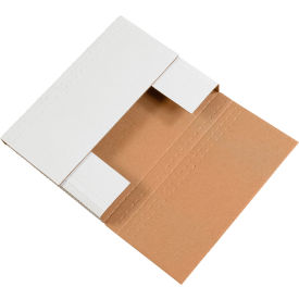 """Easy-Fold Corrugated Mailers 12-1/8"""" x 9-1/8"""" x 2"""" 200#/ECT-32 White - Pkg Qty 50"""