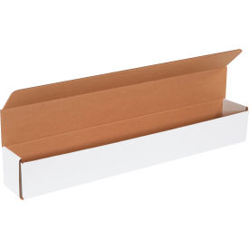 """Corrugated Mailers 30"""" x 4"""" x 4"""" 200#/ECT-32 White - Pkg Qty 50"""