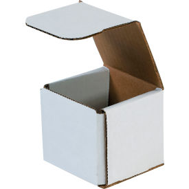 """Corrugated Mailers 3"""" x 3"""" x 3"""" 200#/ECT-32 White - Pkg Qty 50"""