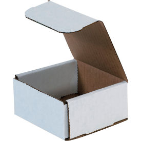 """Corrugated Mailers 4"""" x 4"""" x 2"""" 200#/ECT-32 White - Pkg Qty 50"""