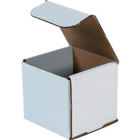 """Corrugated Mailers 4"""" x 4"""" x 4"""" 200#/ECT-32 White - Pkg Qty 50"""