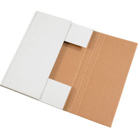 """Easy-Fold Corrugated Mailers 17-1/8"""" x 14-1/8"""" x 2"""" 200#/ECT-32 White - Pkg Qty 50"""