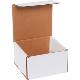 "Corrugated Mailers 5"" x 5"" x 3"" 200#/ECT-32 White - Pkg Qty 50"