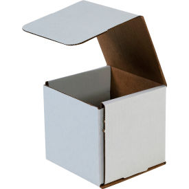 """Corrugated Mailers 5"""" x 5"""" x 5"""" 200#/ECT-32 White - Pkg Qty 50"""