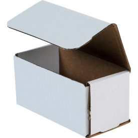 """Corrugated Mailers 6"""" x 3"""" x 3"""" 200#/ECT-32 White - Pkg Qty 50"""