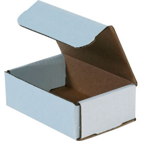 """Corrugated Mailers 6"""" x 4"""" x 2"""" 200#/ECT-32 White - Pkg Qty 50"""