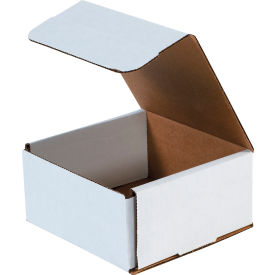 "Corrugated Mailers 6"" x 6"" x 3"" 200#/ECT-32 White - Pkg Qty 50"