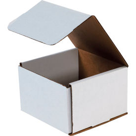 """Corrugated Mailers 6"""" x 6"""" x 4"""" 200#/ECT-32 White - Pkg Qty 50"""