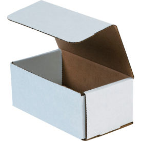 """Corrugated Mailers 7"""" x 4"""" x 3"""" 200#/ECT-32 White - Pkg Qty 50"""