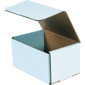 """Corrugated Mailers 7"""" x 5"""" x 4"""" 200#/ECT-32 White - Pkg Qty 50"""