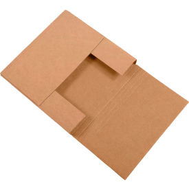 "Easy-Fold Corrugated Mailers 7-1/2"" x 7-1/2"" x 2"" 200#/ECT-32 Kraft - Pkg Qty 50"
