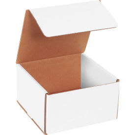 """Corrugated Mailers 7"""" x 7"""" x 4"""" 200#/ECT-32 White - Pkg Qty 50"""
