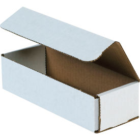 """Corrugated Mailers 8"""" x 3"""" x 2"""" 200#/ECT-32 White - Pkg Qty 50"""