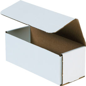 """Corrugated Mailers 8"""" x 3"""" x 3"""" 200#/ECT-32 White - Pkg Qty 50"""