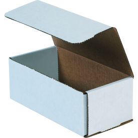 """Corrugated Mailers 8"""" x 4"""" x 3"""" 200#/ECT-32 White - Pkg Qty 50"""