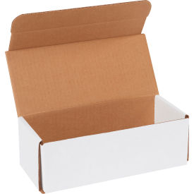 """Corrugated Mailers 9"""" x 4"""" x 3"""" 200#/ECT-32 White - Pkg Qty 50"""
