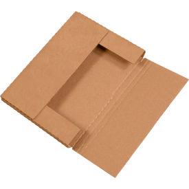 "Easy-Fold Corrugated Mailers 9-5/8"" x 6-5/8"" x 1-1/4"" 200#/ECT-32 Kraft - Pkg Qty 50"