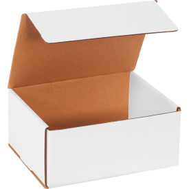 """Corrugated Mailers 9"""" x 7"""" x 4"""" 200#/ECT-32 White - Pkg Qty 50"""