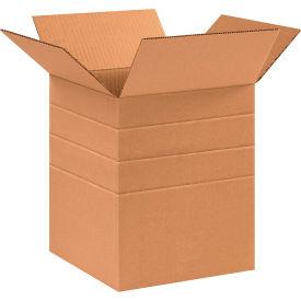 "Multi-Depth Cardboard Corrugated Boxes 10"" x 10"" x 12"" 200#/ECT-32 - Pkg Qty 25"