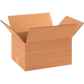"Multi-Depth Cardboard Corrugated Boxes 11-1/4"" x 8-3/4"" x 6"" 200#/ECT-32 - Pkg Qty 25"