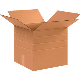 "Multi-Depth Cardboard Corrugated Boxes 12-1/2"" x 12-1/2"" x 12"" 200#/ECT-32 - Pkg Qty 25"