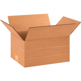 "Multi-Depth Cardboard Corrugated Boxes 12"" x 9"" x 6"" 200#/ECT-32 - Pkg Qty 25"