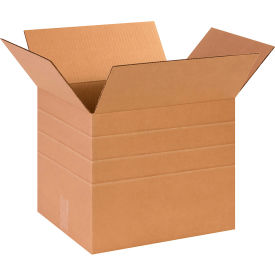 "Multi-Depth Cardboard Corrugated Boxes 14"" x 12"" x 12"" 200#/ECT-32 - Pkg Qty 25"