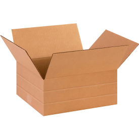 "Multi-Depth Cardboard Corrugated Boxes 14"" x 12"" x 6"" 200#/ECT-32 - Pkg Qty 25"