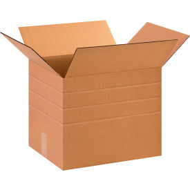 "Multi-Depth Cardboard Corrugated Boxes 15"" x 12"" x 12"" 200#/ECT-32 - Pkg Qty 25"