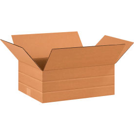 "Multi-Depth Cardboard Corrugated Boxes 16"" x 12"" x 6"" 200#/ECT-32 - Pkg Qty 25"