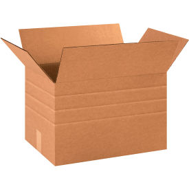 "Multi-Depth Cardboard Corrugated Boxes 18"" x 12"" x 12"" 200#/ECT-32 - Pkg Qty 25"