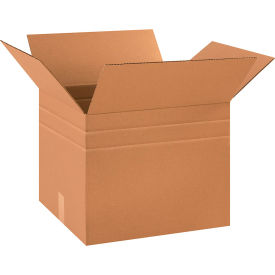 "Multi-Depth Cardboard Corrugated Boxes 18"" x 15"" x 15"" 200#/ECT-32 - Pkg Qty 10"