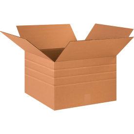 "Multi-Depth Cardboard Corrugated Boxes 18"" x 18"" x 12"" 200#/ECT-32 - Pkg Qty 20"