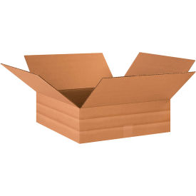 "Multi-Depth Cardboard Corrugated Boxes 18"" x 18"" x 6"" 200#/ECT-32 - Pkg Qty 20"