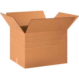 "Multi-Depth Cardboard Corrugated Boxes 20"" x 16"" x 14"" 200#/ECT-32 - Pkg Qty 20"